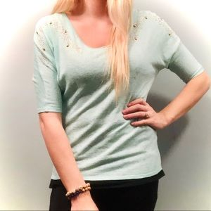 Daytrip buckle teal flowy top size small!
